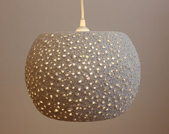 Paper mache pendant light - recycled paper lampshade - paper pulp light - ceiling lamp - hanging lamp - eco friendly light