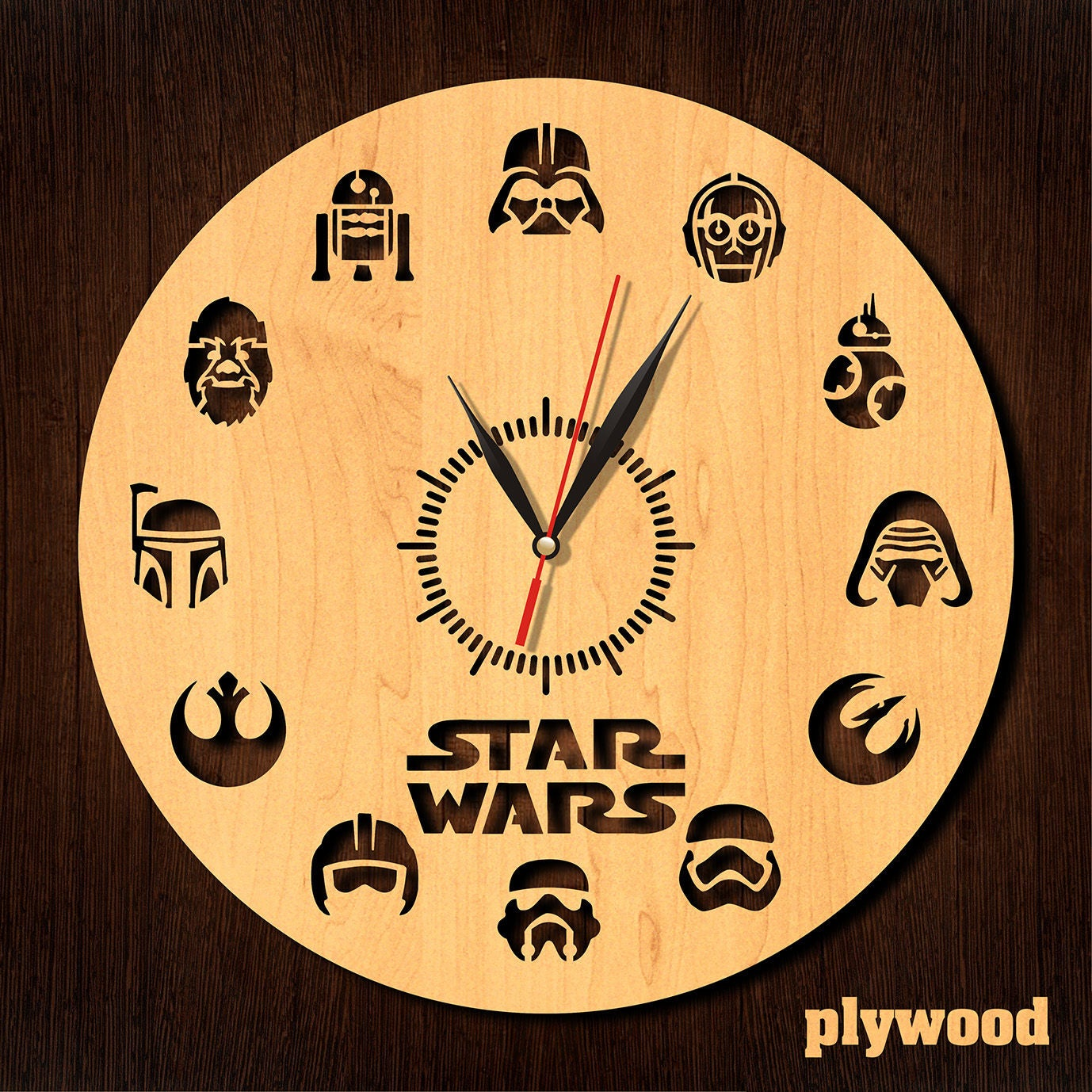 Star wars clock Wooden clock HDF clock Acrylic clock Fan gift
