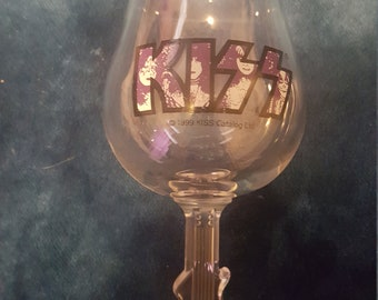 Beautiful KISS wine goblet Ace Frehley  these are hard to find ! Check it out