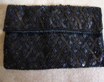 Sequined Evening Bag, Made in France, Vintage