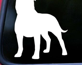 "AMERICAN STAFFORDSHIRE TERRIER Vinyl Decal Sticker 5"" x 4.25"" Pitbull Pit Bull Dog *Free Shipping*"
