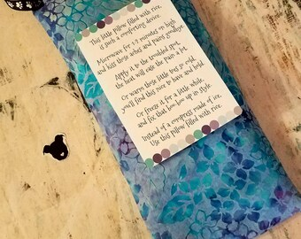 Rice Bags - Heat - Cold - Muscle Ache Relief - Aromatherapy Heat - Arthritis Blend - Arthritis Relief - Cold/Flu Relief - Child Safe
