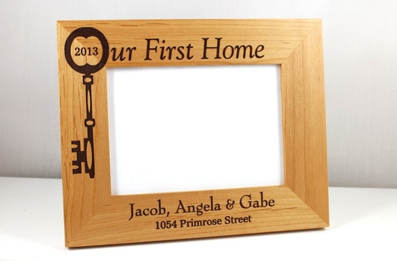 Our First (or New) Home Personalized Wood Frame (available in 2 ...