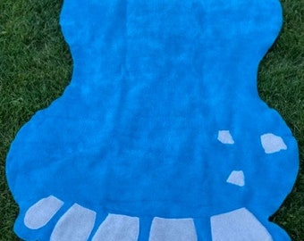 Foot Shape Towels for all Ages, Summer Towel, Beach Towel, Fun Towel, Swimming Towels,