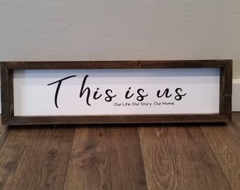 This is us Sign, Farm house Decor, Shelf sitter, rustic sign,