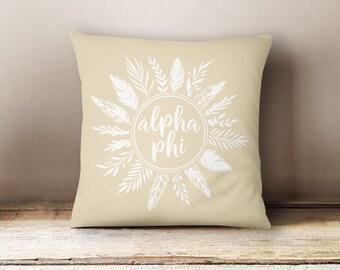 Alpha Phi Feathers Pillow Choose Your Pillow Color