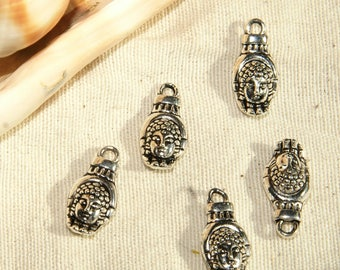 Pendant handmade Buddha x 5 Silver Tibetan solid 12 X 0, 9mm