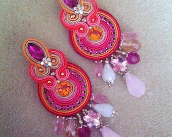 DIY Tutorial soutache: Frida earrings