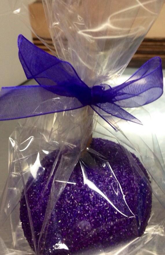 Purple Glamapples Custom Candy Chocolate Or Caramel Apples