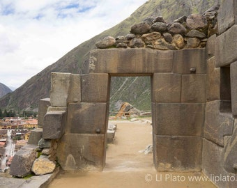 Sacred Valley Entries 4, Fine Art Photography, Landscape, Inca, Ollantaytambo, Small Town, Doorway, Ruins, Archaeology, Wall Art, Home Decor