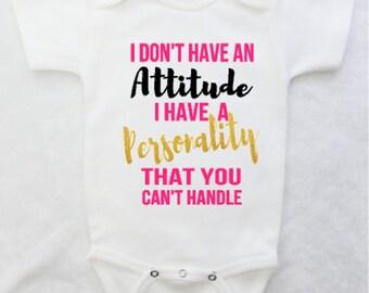 Baby Girl Bodysuit, Funny Baby Bodysuit for Baby Girl, White Baby Bodysuit for Girl, Baby Clothes, Baby Shower Gift, Baby Gift
