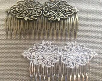 Nickel Free..1 pcs Hair Comb,bridal hair come,Silver Hair Comb,leaf hair comb,antique Bronze hair comb,wedding hair comb,flower hair comb