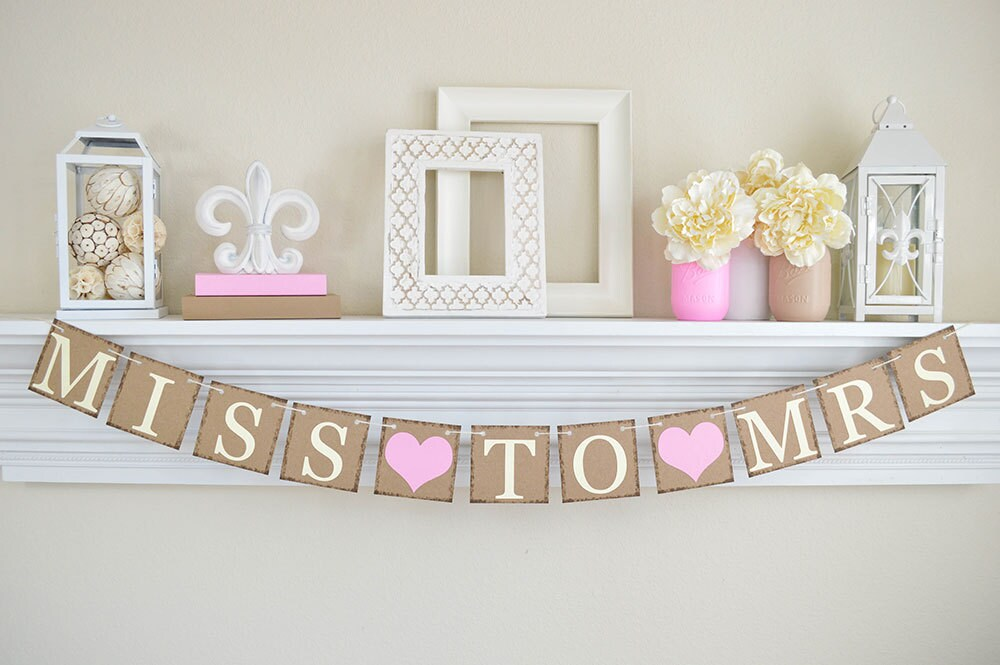 Fabulous Miss To Mrs Banner Pink Bridal Shower Bridal Shower TF83