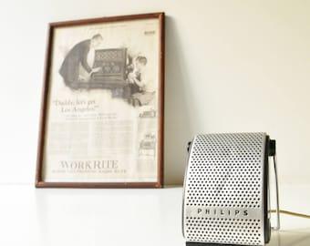 Vintage Philips Microphone EL 3782/00 - Made in Holland - Working