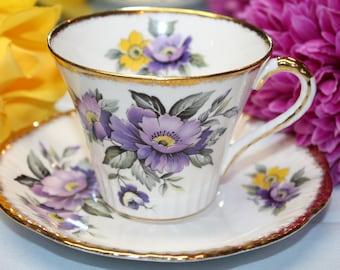 SALISBURY Bone China Teacup and Saucer Set