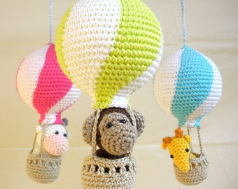 Hot air balloon mobile, baby mobile, hot air balloons, nursery mobile, expecting mom gift