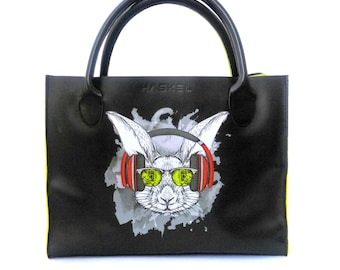 Rabbit leather bag