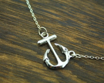 the antique silver anchor necklace  Viking symbol inspired bestfriend jewelry Christmas gift