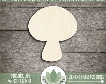 Wood Mushroom Cutout, Wooden Mushroom Shape, Mushroom Nursery Decor, Woodlands Toadstool, Unfinished Wood For DIY Projects, Party Favor