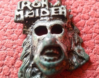 eddie !! iron maiden pendant . object out of time. unrecoverable, for real collectors of meta relics