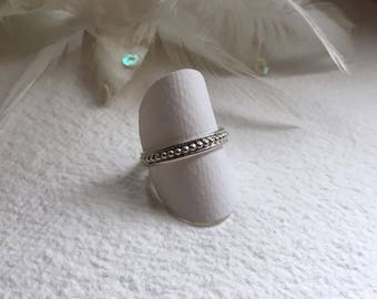 """Silver ring """"Small silver beads"""", Sterling Silver"""
