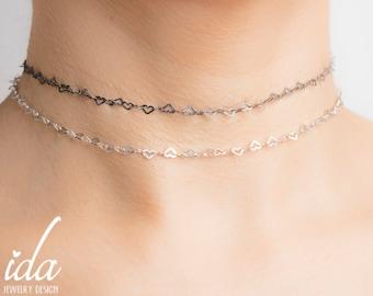 Layered Choker Necklace - Black Choker Necklace - Boho Jewelry - Boho Necklace - Bohemian Jewelry - Layered Necklace -Dainty Choker Necklace