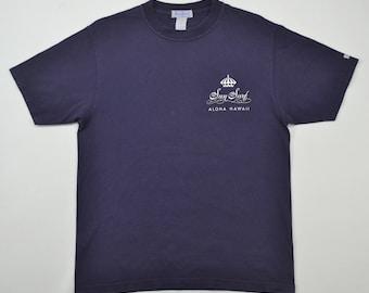 Sun Surf T Shirt Men Medium Ukulele Melodies Tshirt Vintage 90s  Aloha Hawaii Navy Blue