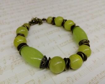 bracelet made of onyx, handmade