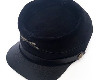 Suede Lieutenant Hat