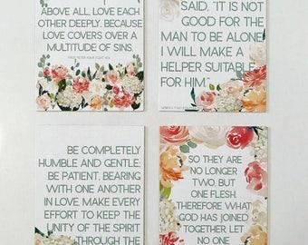 MAGNET Bridal Scripture Card Set