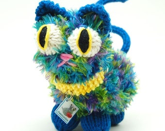 Telepathic Kitten Amigurumi Plush Toy Knitting Pattern PDF Digital Download