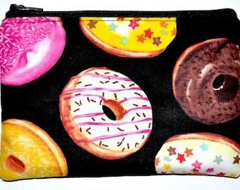 Donut Coin Purse Zipper Pouch Card Pouch Wallet Gift Idea Zippered Purse