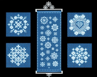 Embroidery Kit: Hapsburg Lace Snowflake Sampler Hand Embroidery Kit