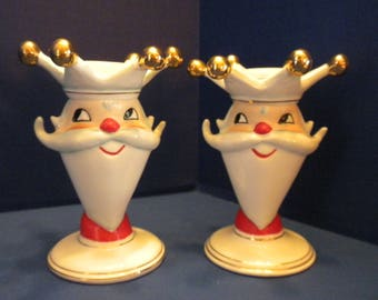 Holt Howard Santa King Candleholder Two available - Listing for One - Dated 1960