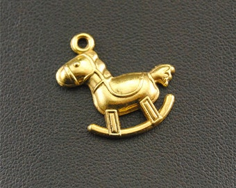 30pcs Antique Gold Lovely Hobbyhorse Charms Pendant A1392
