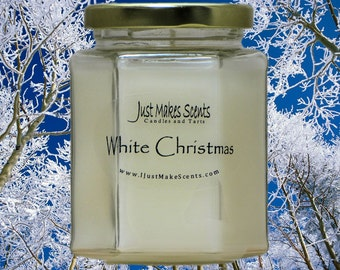 White Christmas Candle - Homemade Blended Soy Candles - Holiday Scent Collection - Christmas Gift - Free Shipping on 6 or More