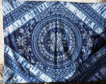 Sunflower pattern tie-dye - Yunnan Bai Minority - Traditional - Handmade - Natural dye
