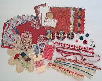 Inspiration Kit No 55 - French General red white blue