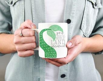 Leslie Knope Mug | Poetic Noble Land Mermaid Galentines | Leslie and Ann | Best Friend Mug | Parks and Recreation Rec | Amy Poehler