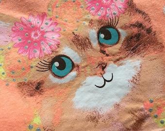 Butterfly cat tshirt market bag