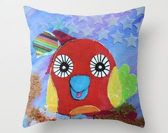 Candy Pillow Quirky Birds Series