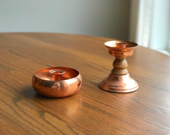 Copper Candlestick Holders, Copper Candle Holders