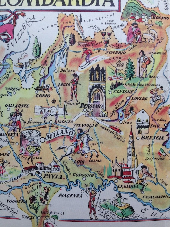 Milan map art italy map decor old map illustration milan map art italy map decor old map illustration vintage map print milano italy art world travel decor lombardy artwork gumiabroncs Image collections