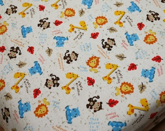 Jungle Babies changing pad cover