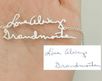 Handwriting Bracelet, Signature Bracelet, Custom Handwriting Bracelet, Handwritten Bracelet, Handwriting Jewelry, Handwritten Jewelry, Gift