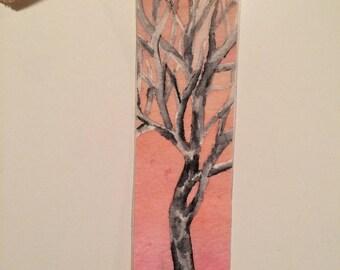 watercolor tree bookmark