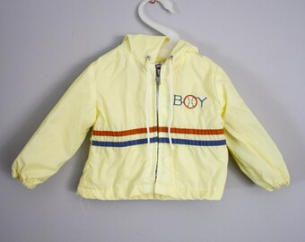 Vintage BOY Baby Windbreaker Jacket Sz 6-12