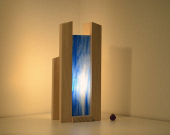 Light wood and glass, handcrafted