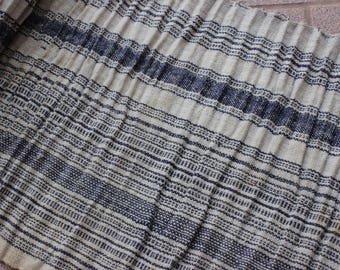 By Yard Vintage Hmong Striped Fabric (stains)