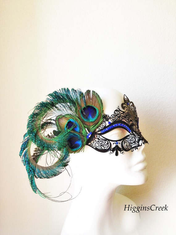 feather masquerade mask womens mask with feathers peacock